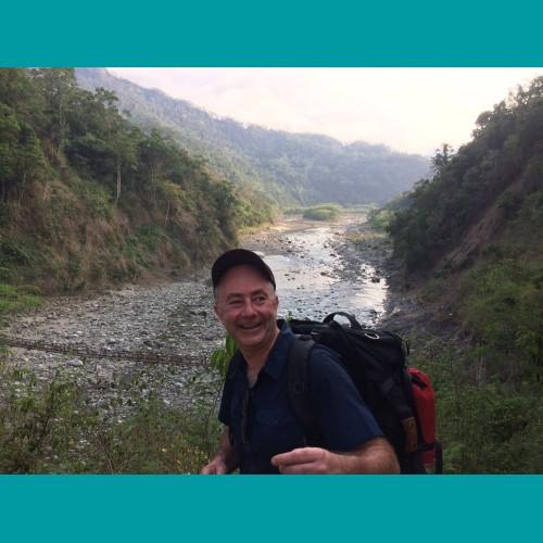 """Koen: """"Op ervaringsreis in de Filipijnen bezochten we verschillende schitterende projecten die Solidagro ondersteund. Hier loop ik graag me de longen voor uit het lijf."""""""